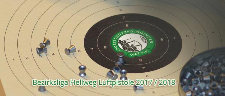 Bezirksliga Hellweg Saison 2018 Luftpistole Luftpistolenschützen